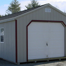Single garages and stick built garages