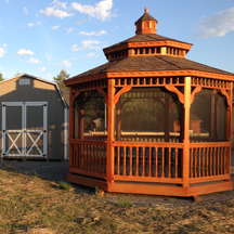 Vinly and wood gazebos