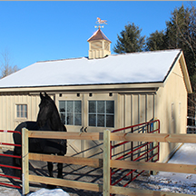 Horse barns, run ins and shed row barns