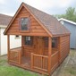 Log Sided Playhouse - #17601