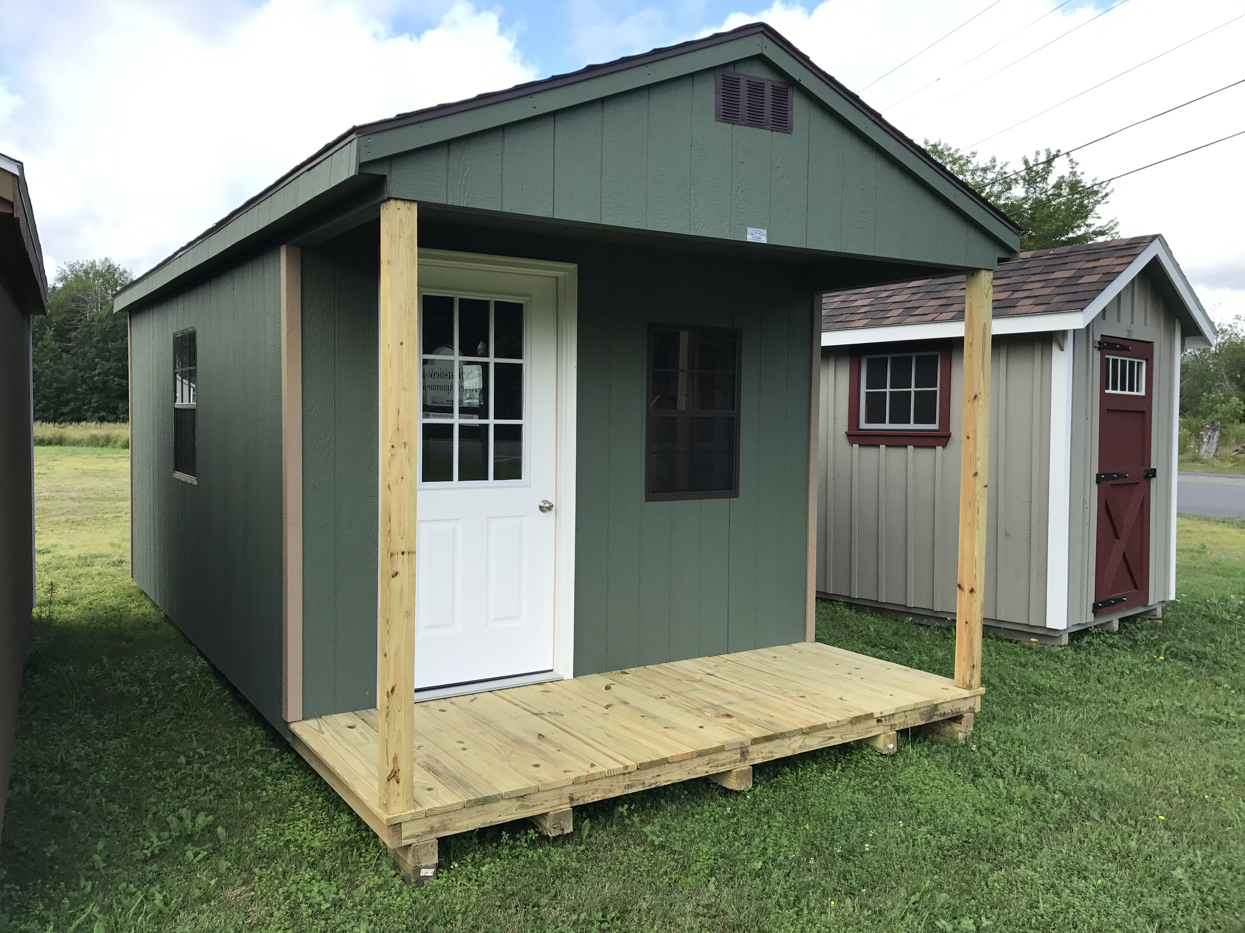 Storage sheds garages camps horse barns hill view mini for Mini barn