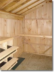 Martin Cream. Interior Of Chicken Coop