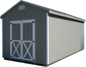 A-frame storage building