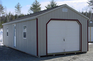 Garages vinyl sided and painted