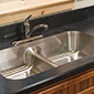 Sink detail for log home
