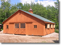 Double wide horse barn