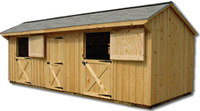Two Bay with Tack Room- Pine Horse Barn