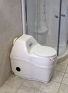Compact composting toilet