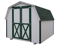 economical low side storage building