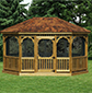 Pressure treated gazebo
