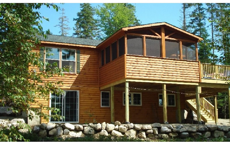 Adirondack log sided homes log sided cabins and modular for Adirondack cabin builders
