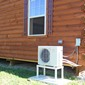 Holden, Maine display home. Heat pump exterior view - #16907