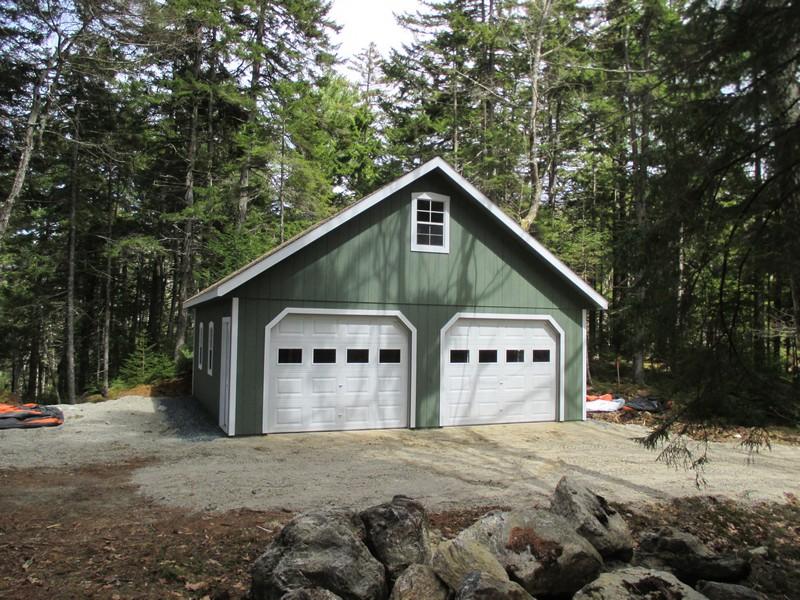 Stick Built Sheds : Stick built residential garages in maine