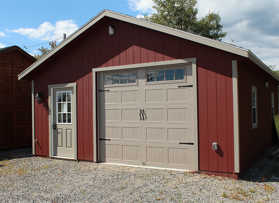 Stick built residential garages in maine for 4 car garage prices