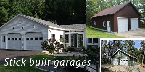 Sheds, Storage barns, Homes, Garages, Camps, Horse Barns in Maine