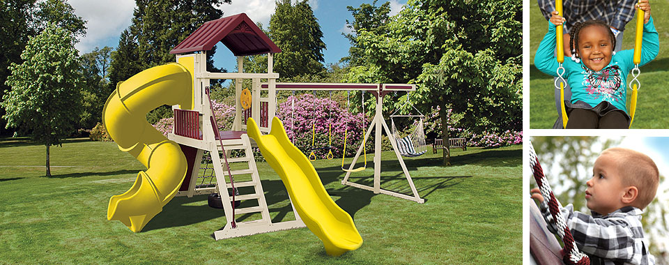 swingsets and playsets for backyard fun for children