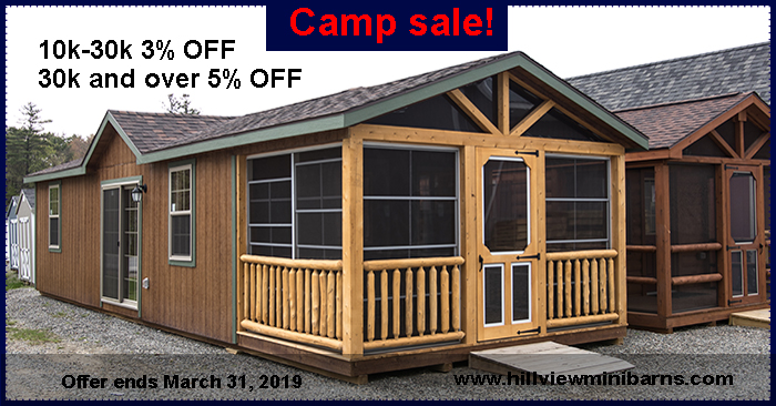 Storage Sheds, Garages, Camps, Horse Barns- Hill View Mini ...